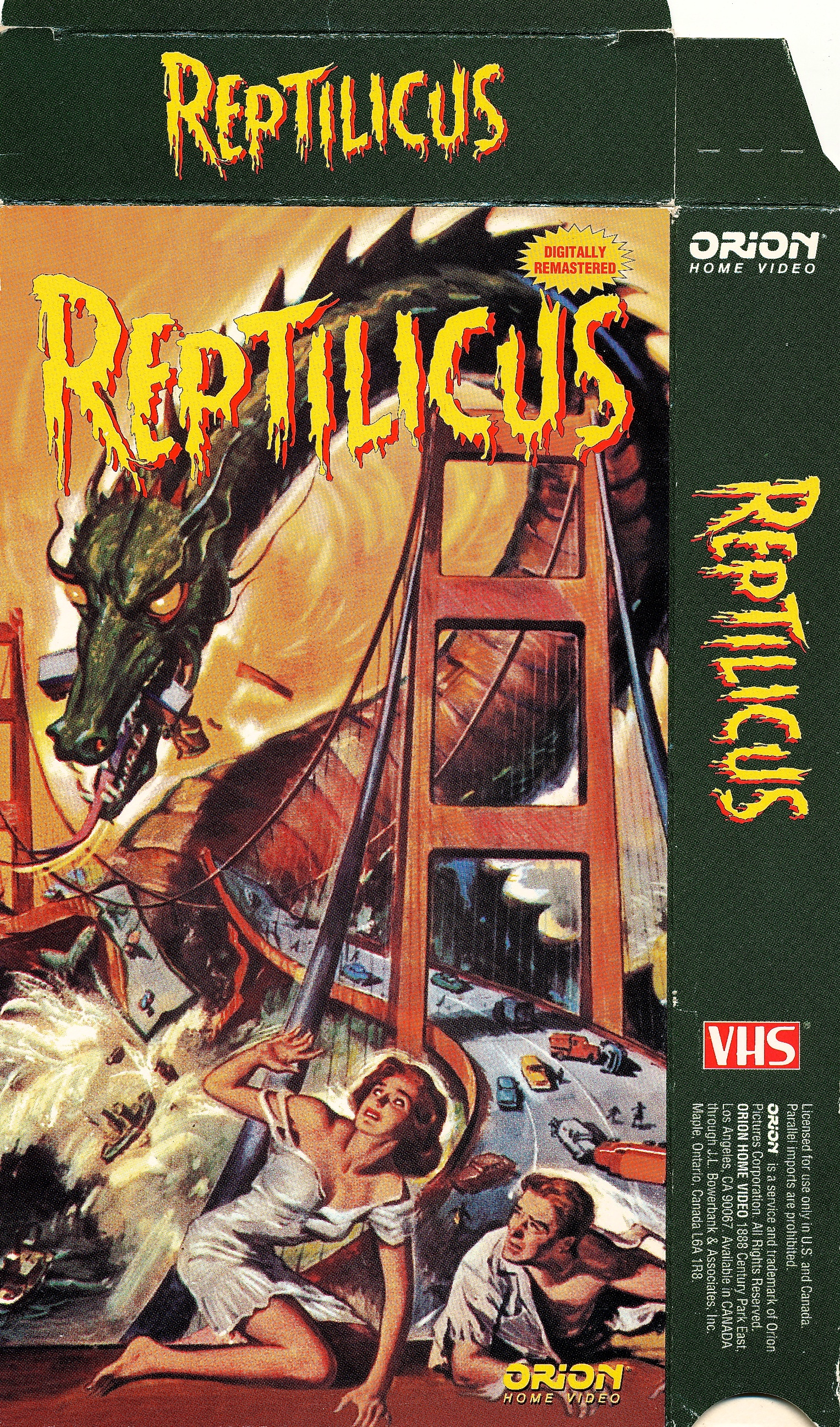 Orion_VHS Reptilicus 1994   monsterminions