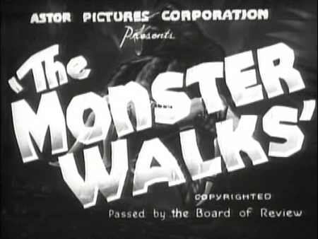 The Monster Walks_Titles
