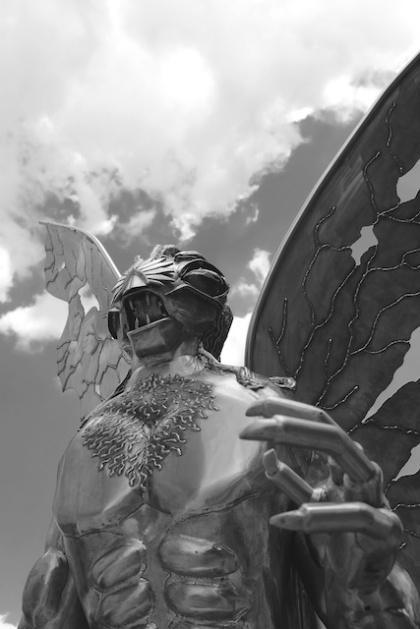 Mothman Statue Closeup