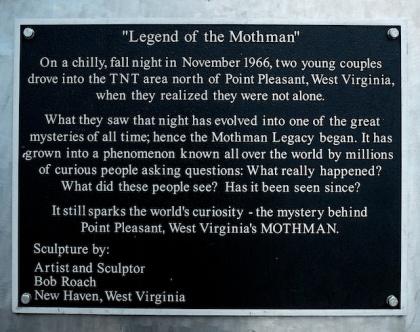 Mothman Statue Plack