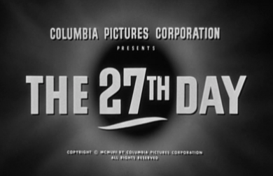 The 27th Day_Titles